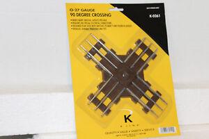 "K-LINE #K0261 ""O27"" GAUGE TUBULAR 90 DEGREE CROSS TRACK   (NOS)"