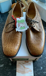 Hoggs Of Fife Honey Kudu Leather Shoes size 9 Wide made in Britain New with tags