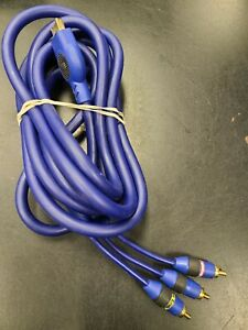 Monster Game Ultimate Composite AV/RCA Cable Blue 10 feet for Sony Playstation 2