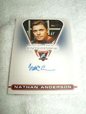 Star Trek Autograph Card Enterprise Nathan Anderson as Sergeant Kemper MACO7