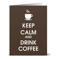 24 Note Cards - Keep Calm and Drink Coffee - Kraft Envs