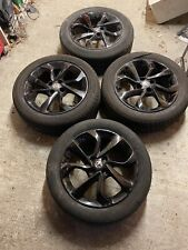 Vauxhall Corsa  4 x Black Alloy Wheels 4x100  with 195/55/16 With Tyres Adam
