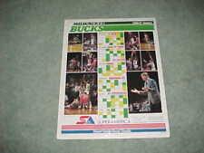 1986 Milwaukee Bucks NBA Basketball Team Photo Schedule Poster