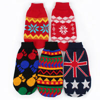 Pet Dog Puppy Cat Warm Sweater Clothes Knit Coat Winter Apparel Costume