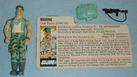 1983 GI Joe USMC Gung Ho v1 Marine Corps Figure w/ File Card Accessories *BROKEN