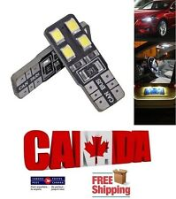 2x 8SMD White 6000k LED T10 194 168 Canbus Error Free Map Dome Plate Light Bulbs