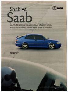 2000 SAAB 9-3 Viggen Coupe Vintage Original Print AD - Blue car photo supersonic