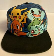 2016 KIDS POKEMON Evolution Snapback Hat | Pikachu Charmander Squirtle Bulbasaur