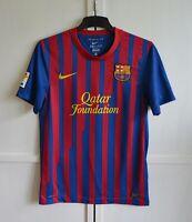 FC BARCELONA SPAIN 2011/2012 HOME FOOTBALL SHIRT JERSEY CAMISETA NIKE SIZE (S)