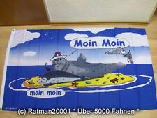 Fahnen Flagge Moin Moin Sandbank - 90 x 150 cm