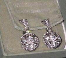 JUDITH RIPKA Sterling Silver Diamonique & Crystal Quartz Sunburst Earrings New