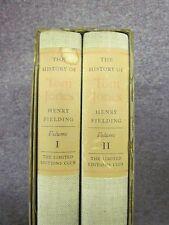 History of Tom Jones Two Vol Set w/ Slip case Signed by Illustrator ! Hardbacks