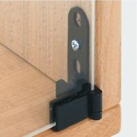 1pair x Pivot Hinges Glass Doors on Cabinets BLACK 180 Degrees Inset 361.68.300