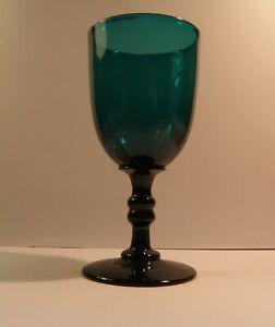Bristol Green date-lined wine glass pre-1840