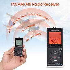 HanRongDa HRD767 FM/AM/AIR Aircraft Band Radio Receiver Speaker 3.5mm w/Earphone