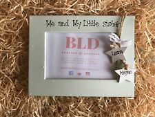 Personalised Me and My Little Sister Sibling Gift Picture Photo Frame 6x4 Size