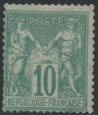 "FRANCE STAMP TIMBRE N° 65 "" SAGE 10c VERT TYPE I "" NEUF x TB A VOIR  J727"