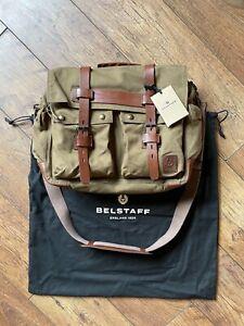 Belstaff Colonial Messenger Bag panther trialmaster gangster leather hat