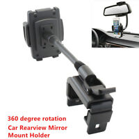 Universal Car Rearview Mirror Mount Holder Stand Cradle Bracket For Cell Phone