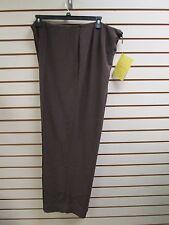 QVC Dialogue Brown Dress / Career Pants Size 26W - NWT