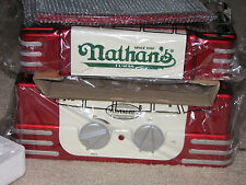 NIB Nathan's '50s Style Hot Dog Roller Machine Warmer Cooker Grill