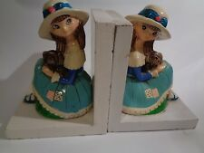 Vintage Set of Earl Bernard Little Girl Bookends  Japan