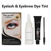 Eyelash & Eyebrow Dye Tint Gel Eye Brow Mascara Cream Brush Kit Waterproof