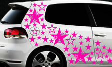 93 Sterne Star Auto Aufkleber Set Sticker Tuning Shirt Stylin WandtattooTribel ö
