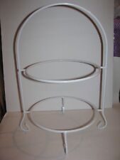 Plate Rack, Plate Stand, White, Wrought Iron, New