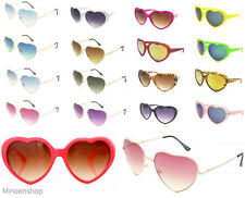 e53c1b908bf3 Heart Shape Sunglasses Gold Boho Festival Lolita Style Fancy Dress Party