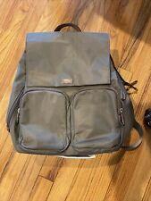 Tumi IRENE DRAWSTRING BACKPACK Bag Nylon Lightweight Travel Tie Grey Used