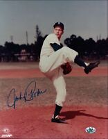 Johnny Podres Signed 8X10 Photo Autograph Dodgers Pose One Leg Auto COA