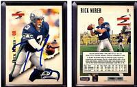 Rick Mirer Signed 1995 Score #51 Card Seattle Seahawks Auto Autograph