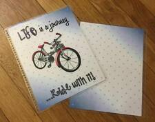 *Life is a Journey* Bicycle Front/Back Cover Set for use w/ Erin Condren Planner
