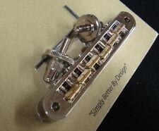 TP6B-N TonePros Standard RAW Series Bridge w/ Raw Bell Brass Saddles!  Nickel