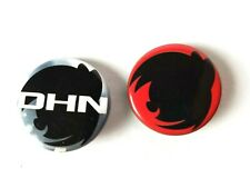 My Little Pony Derpy Hooves Lot of 2 Pins/Buttons Red Black White Sillouettes