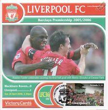 Liverpool 2005-06 Blackburn R. (Robbie Fowler) Football Stamp Victory Card #536