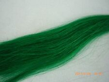 Horse Hair, Natural, Dyed, 1 Ounce, 13-14 Inches, Green