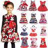 Newborn Baby Girls Minnie Mouse Tops Kids Cartoon Summer Vest Skirt Party Dress