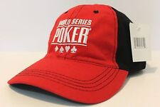 World Series of poker baseball hat cap Red Black new with tags