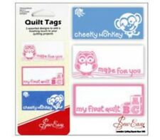 9 QUILT LABELS/TAGS TO ADD THAT FINISHING TOUCH, my first quilt pink & blue bnew