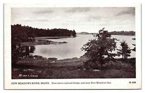 1914 New Meadows River, Maine Postcard *342