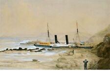 CITY OF NEWCASTLE Hunter River New S N Co NSW built 1859 digital Art Postcard