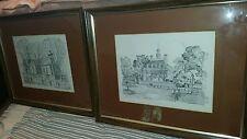 Vintage Williamsburg VA Framed Prints by Charles H. Overly