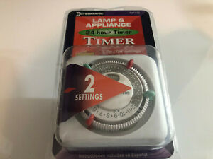 Intermatic Lamp & Appliance 24-hour Timer Easy Set Dial 2 Settings New Unopened