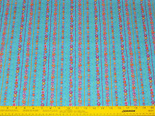 Lucky Charms Stripe Turquoise Fabric by Fabri-Quilt BTY 100% cotton Quilting
