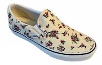New Vans Classic Slip On Women's Sz 8.5 [Ditsy Floral] Cream Canvas Shoes