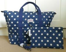 CATH KIDSTON *Button Spot* NAVY FOLDAWAY OVERNIGHT BAG ~ Brand New with tags