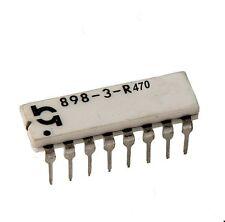 Rete resistenza 8x 470ω Ohm, dip16, 2%, 0,25 Watt, RM 2,54, 898-3-r470 1st.