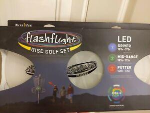 Nite Ize Flashflight LED Disc Golf Set Disc-O Select Driver/Mid-Range/Putter NEW